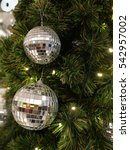 disco ball decoration hanging... | Shutterstock . vector #542957002
