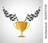 cup and finish flag. vector | Shutterstock .eps vector #542957755