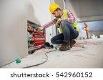 portrait of a worker ... | Shutterstock . vector #542960152