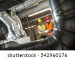 portrait of a worker ... | Shutterstock . vector #542960176