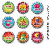 Fruity Bottle Caps 3   Vector...