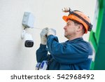 technician worker installing...   Shutterstock . vector #542968492