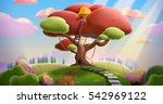 tree house on the hill. video... | Shutterstock . vector #542969122