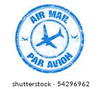 blue grunge rubber stamp with...   Shutterstock .eps vector #54296962