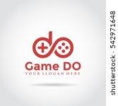 game logo  abstract letter do... | Shutterstock .eps vector #542971648