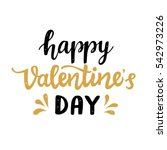 happy valentines day typography ... | Shutterstock .eps vector #542973226