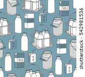 dairy produce  hand drawn icons ...