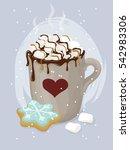 vector set of winter february... | Shutterstock .eps vector #542983306
