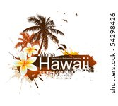 tropical background. aloha... | Shutterstock .eps vector #54298426