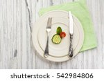 small portion of food. anorexia ... | Shutterstock . vector #542984806