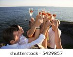 group of people partying in the ... | Shutterstock . vector #5429857