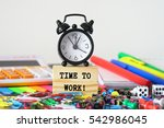 time to work  | Shutterstock . vector #542986045