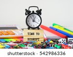 time to disrupt | Shutterstock . vector #542986336