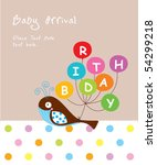 baby whale arrival tag | Shutterstock .eps vector #54299218