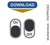 on off switch icon vector flat... | Shutterstock .eps vector #542994262