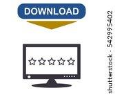 computer display icon  vector... | Shutterstock .eps vector #542995402