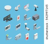 home security system elements... | Shutterstock . vector #542997145