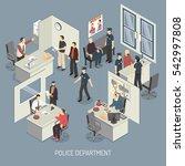 police department isometric... | Shutterstock . vector #542997808