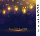 ramadan lights poster several... | Shutterstock . vector #543000856