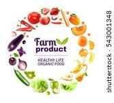 organic food typographic poster ...   Shutterstock . vector #543001348