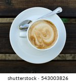 the cup of cappuccino. view... | Shutterstock . vector #543003826