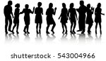 a large group of people ... | Shutterstock .eps vector #543004966
