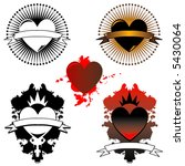 three vector heart images with... | Shutterstock .eps vector #5430064