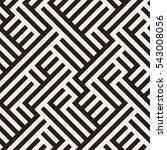 irregular maze line. abstract... | Shutterstock .eps vector #543008056