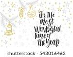christmas greeting card ... | Shutterstock .eps vector #543016462