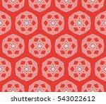 floral geometric decorative... | Shutterstock .eps vector #543022612