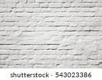 Old White Washed Brick Wall...