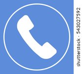 telephone handset symbol ... | Shutterstock .eps vector #543027592
