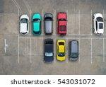 empty parking lots  aerial view. | Shutterstock . vector #543031072