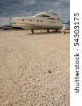 Speedboat On Dry Land