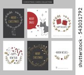 set of christmas and new year... | Shutterstock .eps vector #543031792