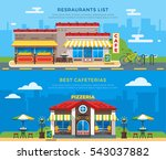 best cafeterias and restaurants ... | Shutterstock . vector #543037882