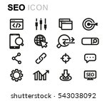 vector line seo icons set on... | Shutterstock .eps vector #543038092