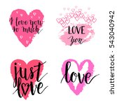 i love you so much  just love... | Shutterstock .eps vector #543040942