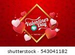 valentines day sale background... | Shutterstock .eps vector #543041182