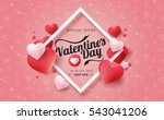 valentines day sale background... | Shutterstock .eps vector #543041206