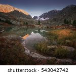 small mountain lake view with... | Shutterstock . vector #543042742