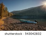 river with thick forest and... | Shutterstock . vector #543042832