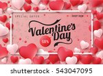 valentines day sale background...   Shutterstock .eps vector #543047095