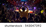 fans on basketball court in... | Shutterstock . vector #543047392
