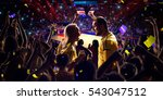 fans on basketball court in... | Shutterstock . vector #543047512