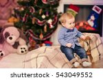 christmas portrait of a young... | Shutterstock . vector #543049552