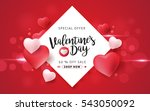valentines day sale background... | Shutterstock .eps vector #543050092