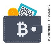 bitcoin wallet concept with... | Shutterstock .eps vector #543053842
