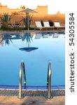luxury poolside - stock photo