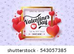 valentines day sale background... | Shutterstock .eps vector #543057385